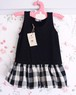 kids バルーンスカート ワンピース ブラック × チェック 90サイズ