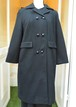 "VINTAGE ""Youthcraft"" small button black straight coat"