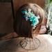 エメラルドグリーンの髪飾りセット