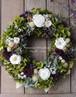 バラと紫陽花のリース/グリーンボルドー(直径25cm)/プリザーブドフラワー/リース/新築祝い/開業祝い/お誕生日祝い/バースデーギフト/クリスマス【お届け日指定可能】
