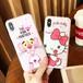 ピンクパンサー ハローキティ オリジナル iphoneXケース カワイイ iphone8ケース 個性 iphone6 plusカバー カップル向け アイフォンケース 大人気