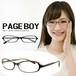ダテ眼鏡 ページボーイ py6230 UVカット クリアサングラス 伊達めがね メンズ & レディース 伊達メガネ ビックフレーム PAGE BOY