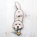 D-78 マルチーズ(口開き)-犬の振り子時計