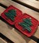 クリスマスツリー コースター 2枚セット