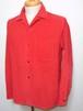 1960's Sandy Mac Donald ループカラー コーデュロイBOXシャツ 赤 表記(M)