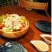 サラダボールと青丸皿16cm(2枚)セット