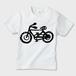 自転車GO!! かわいいキッズT ※お肌にやさしい ガーメントインクジェット印刷