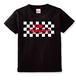 チェックロゴTシャツ<黒>