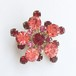 pink & red rhinestone brooch[b-208]