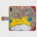 花飾り蛙手帳型ケース