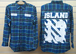 【SALE 50%off】ISLAND 13 CHECK SHIRT (Blue)