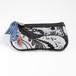 横浜のシルクスカーフを使ったポーチ【キー&コインケース】モノトーンペイズリー