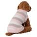 【送料無料】  犬服(ドッグウェア) ペット服 ふわふわニット ベスト ボーダー マルチピンク