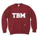 TSUBOMIN / TBM LOGO CREWNECK SWEAT BURGUNDY