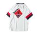 送料無料メンズビッグサイズポイントバイカラーロゴ半袖白Tシャツ