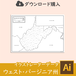 【ダウンロード購入】ウェストバージニア州の白地図データ(Aiデータ)