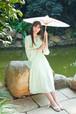 中国風ワンピース ミドル丈 マキシ丈 ブドウ刺繍