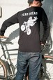 TEAM DREAM BICYCLING TEAM / Check Yo Self Checkered Sleeve Long Sleeve / Black White