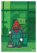 《山本周司 イラストポストカード》CY-20/ ストリートセイソウイン