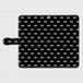 (通販限定)【送料無料】Lサイズ-手帳型スマホケース モノグラム_ブラック