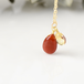 紅葉 カーネリアンとシトリンの秋色ネックレス14kgf
