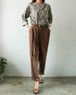 ANN TAYLOR brown silk pants