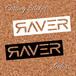 RAVER logo cutting sticker