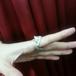 HOASHIYUSUKE しっぽが花になっている猫のリング