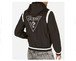 GUESS ゲス HOODED JACKET Guess logo embroidery at the chest and back ZIP仕様でフード脱着可能 フード付きスタジャン