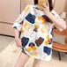 【tops】絶対流行おすすめラウンドネックプリントTシャツ2色カジュアル大好評