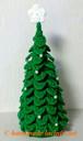毛糸で編む卓上タイプ のクリスマスツリー