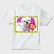 ももちゃんの世界001 キッズTシャツ ※お肌にやさしいガーメントインク印刷