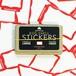 EGGSHELL STICKERS RED WAVY BORDER 80pcs
