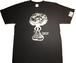【即日発送可能】 【funkキマグレ企画 Tシャツ】染み込みプリント黒T×クリーム
