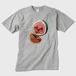 Watermelonメンズ Tシャツ グレー トナー熱転写