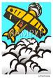 サビアンシンボル魚座10度 消しゴム版画