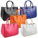 PU Leather Satchels Tote Purse Bag Handbag トートバッグ レザー ハンドバッグ 財布 パスケース サッチェル (COS99-4916444)