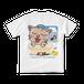 <白Tシャツ 背面>お風呂みーちゃん