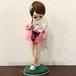 ポーズ人形 ピンクドレス黒ねこ