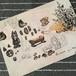 イラストカード<話の話 素材コラージュ>