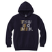TSUBOMIN / FLOWING LOGO HOODED SWEATSHIRT NAVY x GOLD