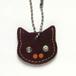 【送料無料】猫の本革迷子札 CT104