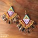 Czech Dagger Beads Pierce ~amethyst jet crystal&gold luster topaz~