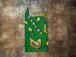 【SALE!】アフリカンプリント・エコバッグ(緑ニワトリ親子)(コンビニ袋型)(Mサイズ)
