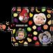 iPhonePlus・Android Lサイズ フルーツ手帳型ケース color:ブラック