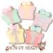 【期間限定セール280円】プレゼントのアイシングクッキー SHON-PY HEART 結婚式プチギフト