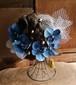 気品の青い胡蝶蘭とチュールの着物用ヘアーパーツ