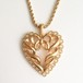 """NINA RICCI"" heart necklace[n-214]"