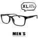 コピー:メガネ 9233-1 メンズ ビックサイズ XLサイズ ウェリントン 超軽量 TR素材 大きめ 大きい 眼鏡 venus×2