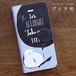 送料無料【iPhone/Android対応】シマエナガの黒板風手帳型スマホケース